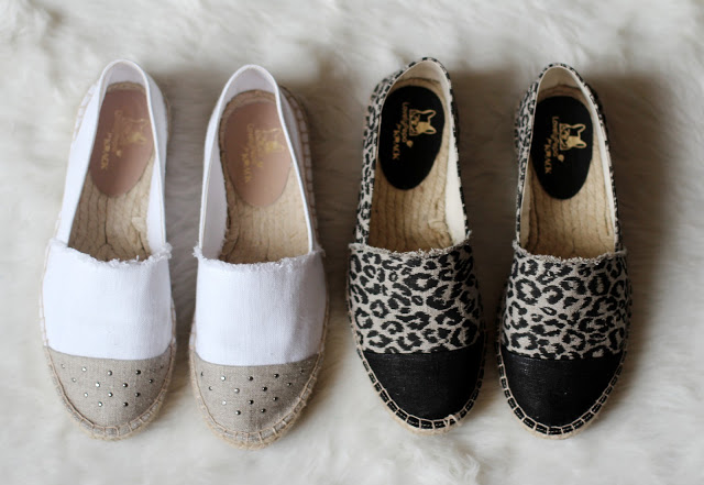 Espadrilles from the LovelyPepa x Krack collection in beige and white